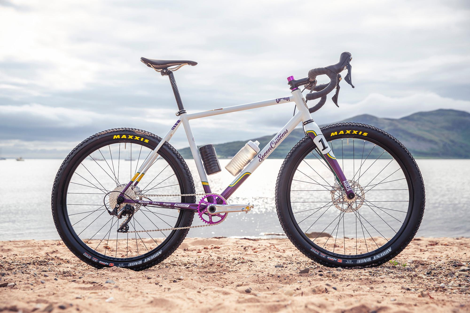 Grinduro custom build by Spoon Customs.Grinduro, Isle of Arran, Scotland, 13 July 2019