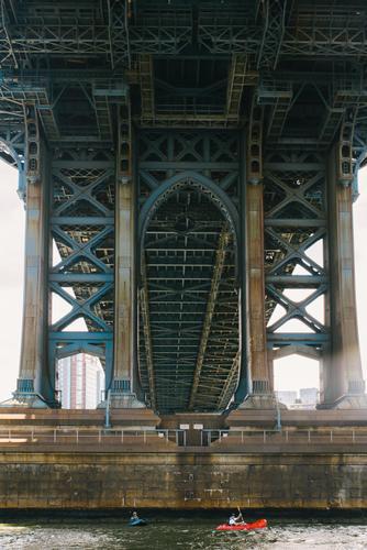 Crossing under the Williamsburg Bridge
