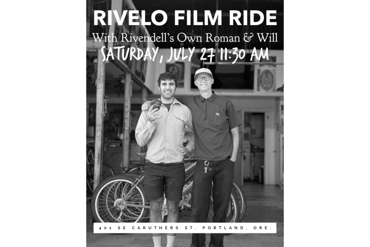 Rivendell and Rivelo Film Ride this Saturday!