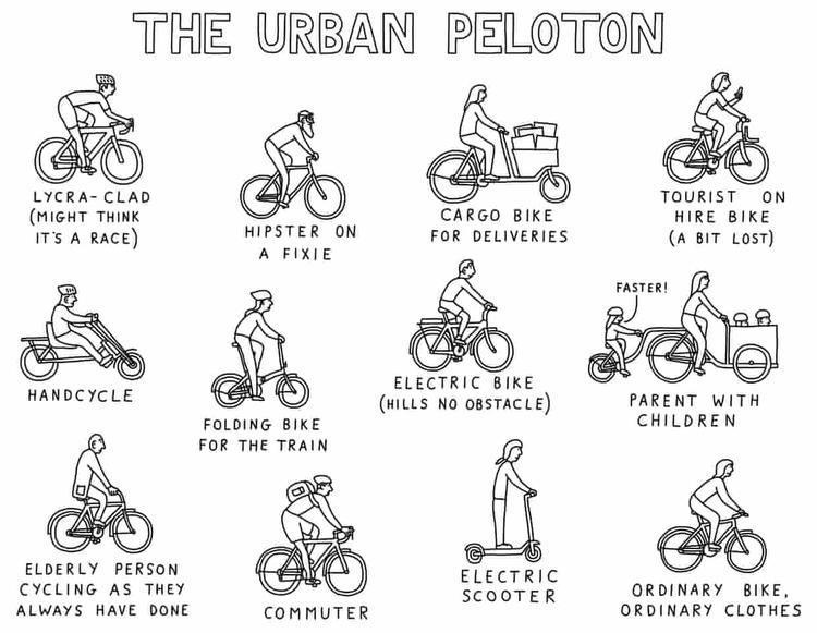 The Guardian: A Cyclist's Guide to Biking the City – a Cartoon