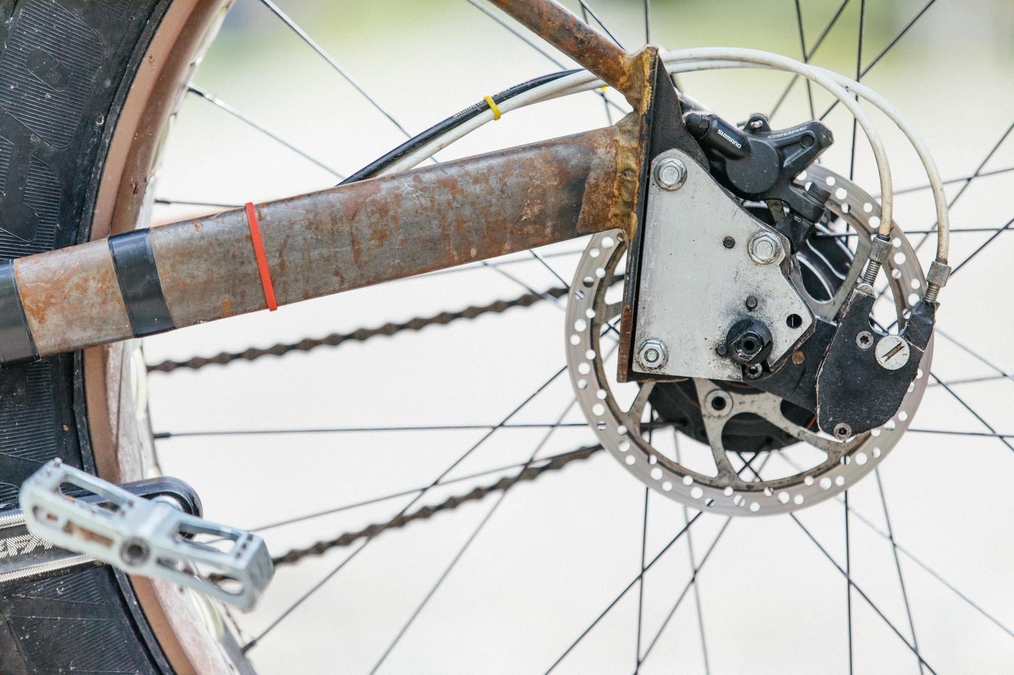 Sam's Garage Built 135mm Rohloff Fat Bike