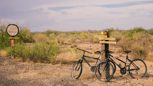 Jeffery Sharpe's Bike Ranch in Hachita, NM (Spencer Harding)