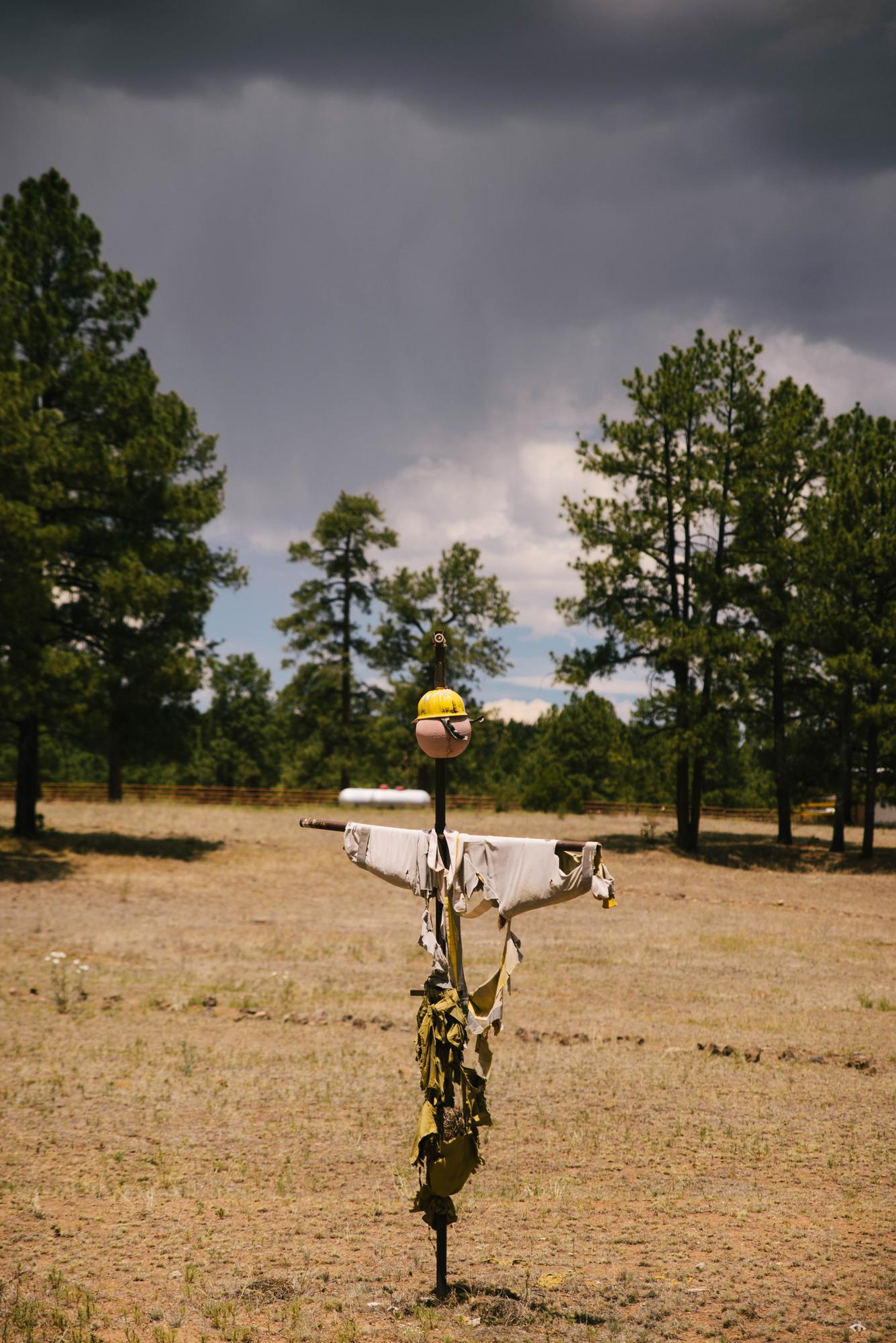 Firefighter Scarecrow at Beaverhead Work Station (Spencer Harding)