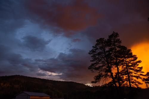 Unreal sunset over the Gila National Forest (Spencer Harding)