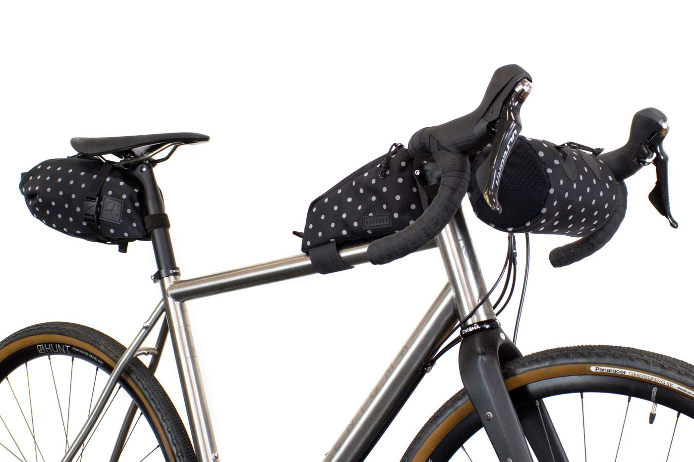 Restrap's Second Run of Polka Limited Edition Bikepacking Bags