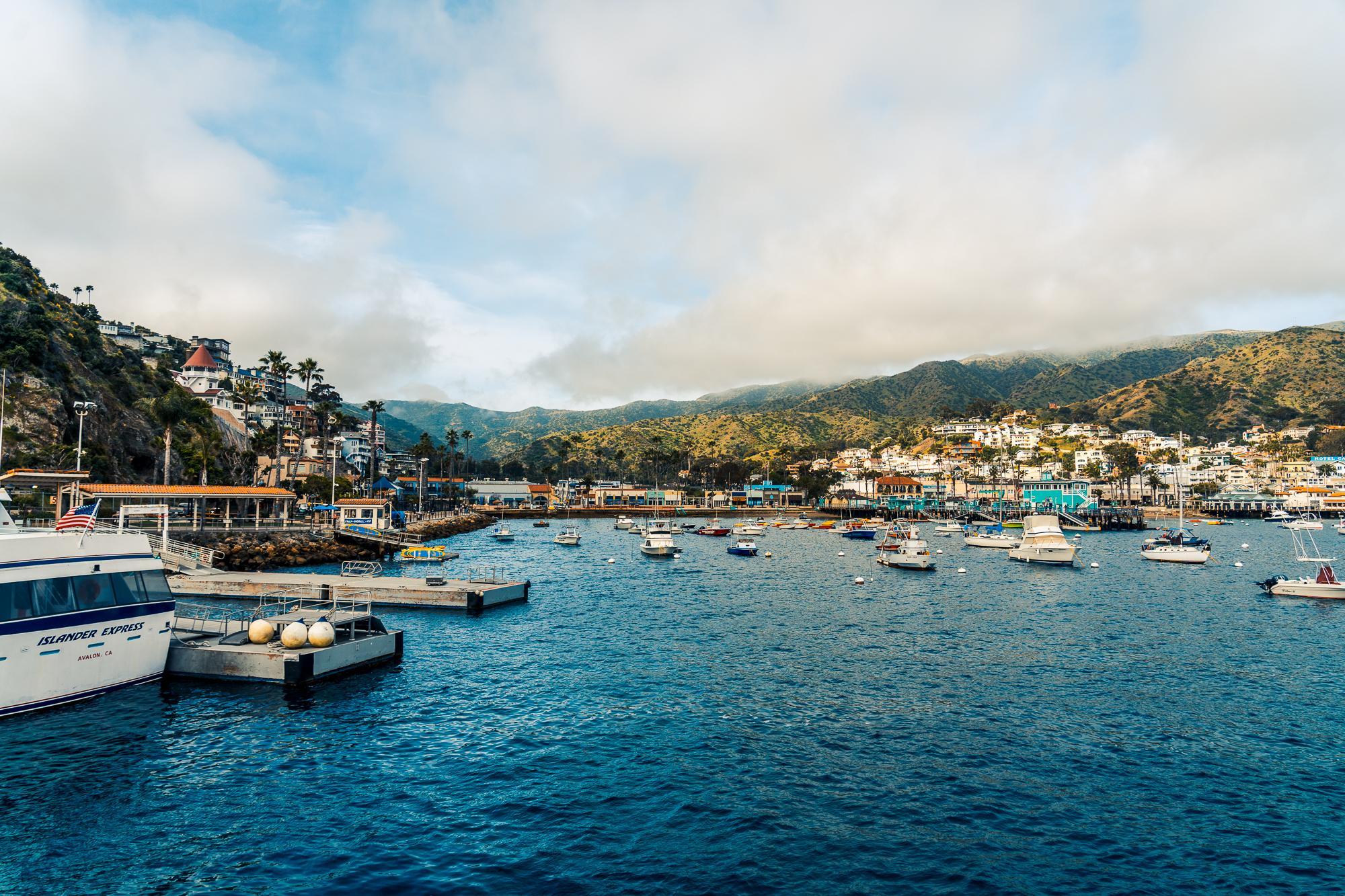 Port town of Avalon, Santa Catalina Island