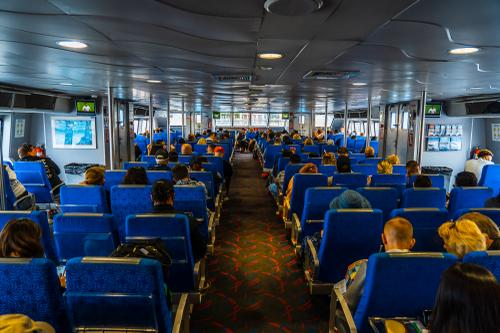 Inside the Catalina Express
