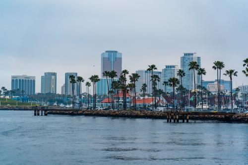 Looking back to Long Beach