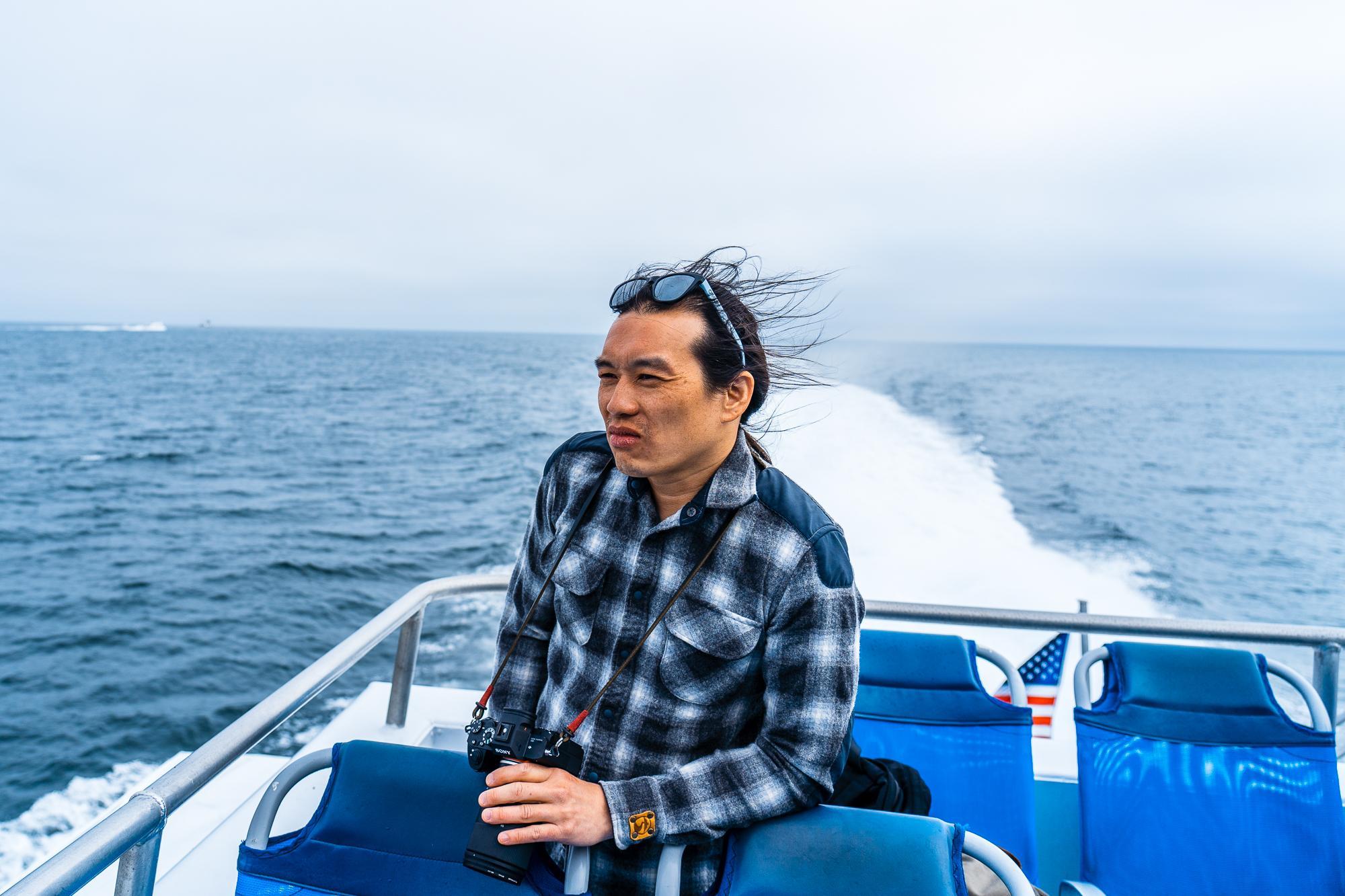 Alex taking in the ocean views