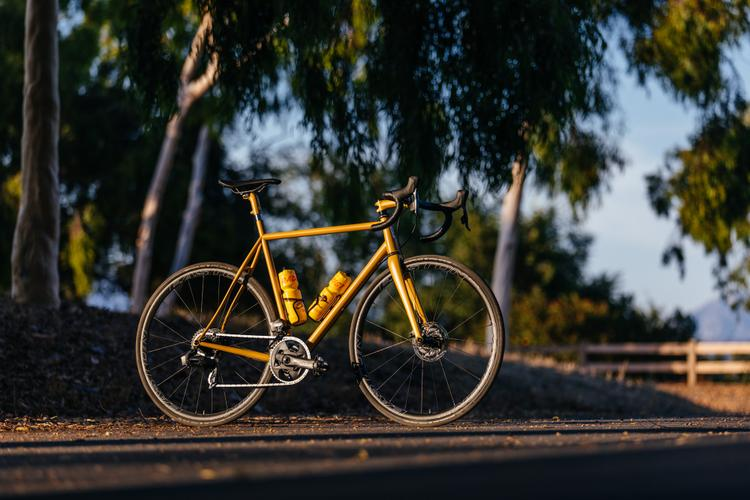 A Golden Speedvagen Disc OG Road with SRAM Force eTap AXS