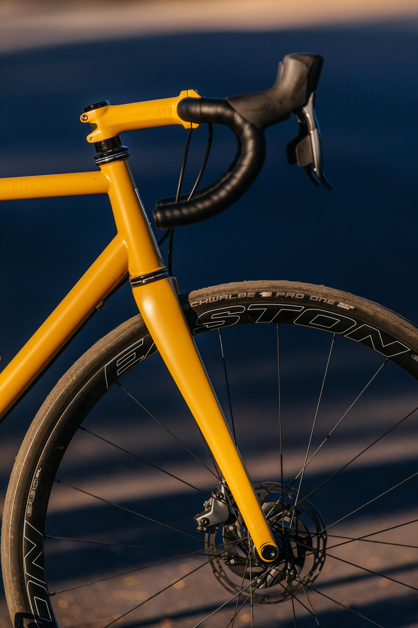 A Golden Speedvagen Disc OG Road with SRAM Force AXS