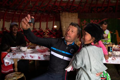 Lieven Schroyen takes a selfie at checkpoint two. (Rugile Kaladyte)