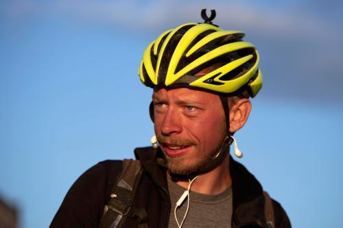 James Mark Hayden prepares to leave checkpoint three. (Rugile Kaladyte)