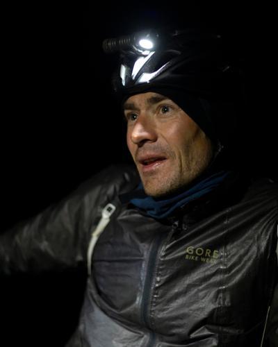 Klaus Thiel on his way to checkpoint three. (Rugile Kaladyte)