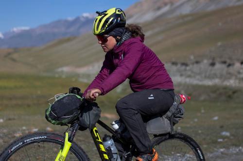 Marika Wagner rides towards checkpoint three. (Rugile Kaladyte)