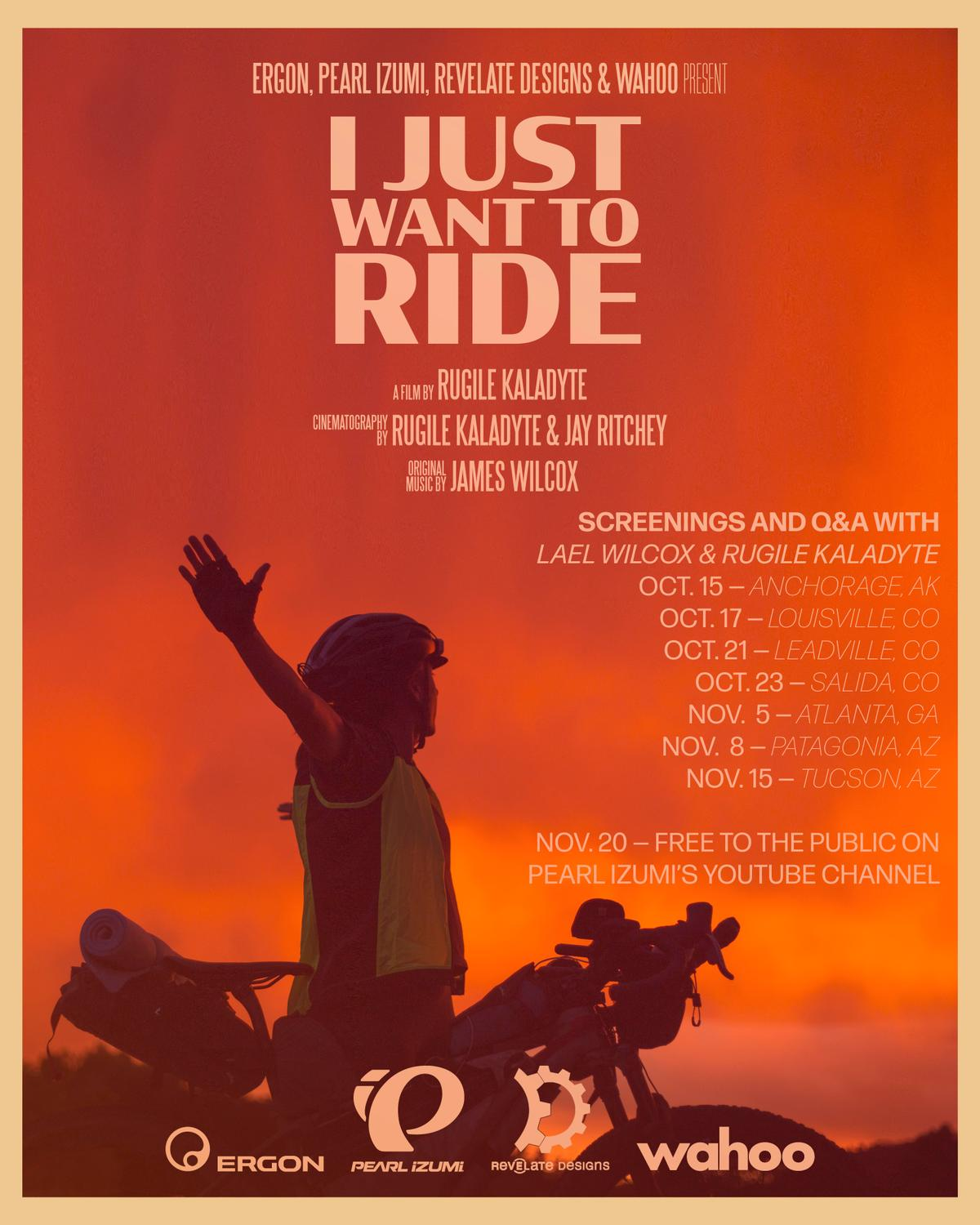 """I Just Want to Ride"""" a Film By Rugile Kaladyte – Dates Announced ..."""