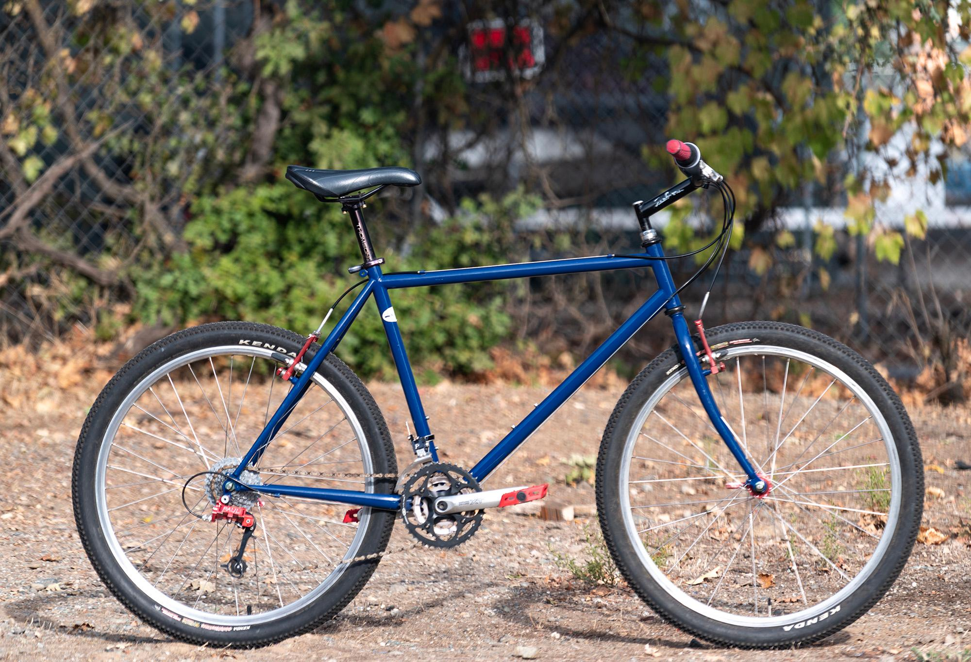 Blue Salsa: Og Paul Derailleurs Love Levers and Moto lite first gen. Very rare. Steve O'Brien's from Pullins Cyclery.