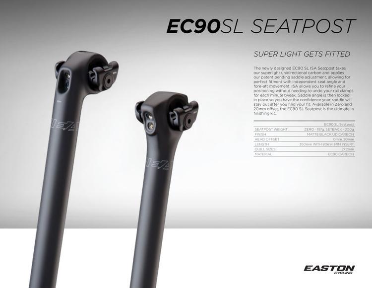 Easton's Super Light EC90 SL ISA Seatpost