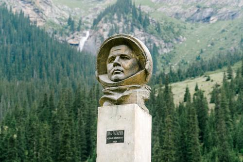 Random monuments for the Russian cosmonaut...