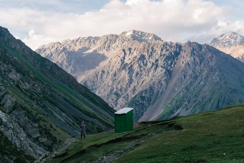 Scenic toilets of Kyrgyzstan