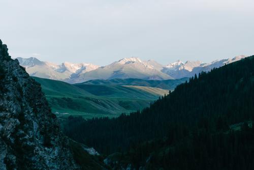 Sunset mountain-tops