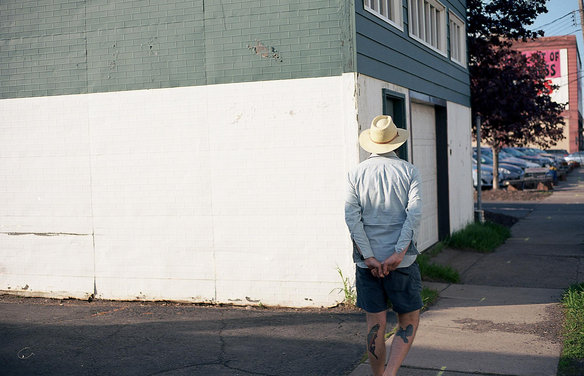 Man in the white hat