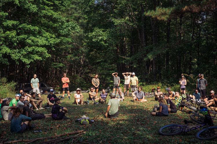 Scenes from the 3rd Annual Bikepacking Summit in Ellijay, Georgia's Mullberry Gap Mountain Bike Retreat