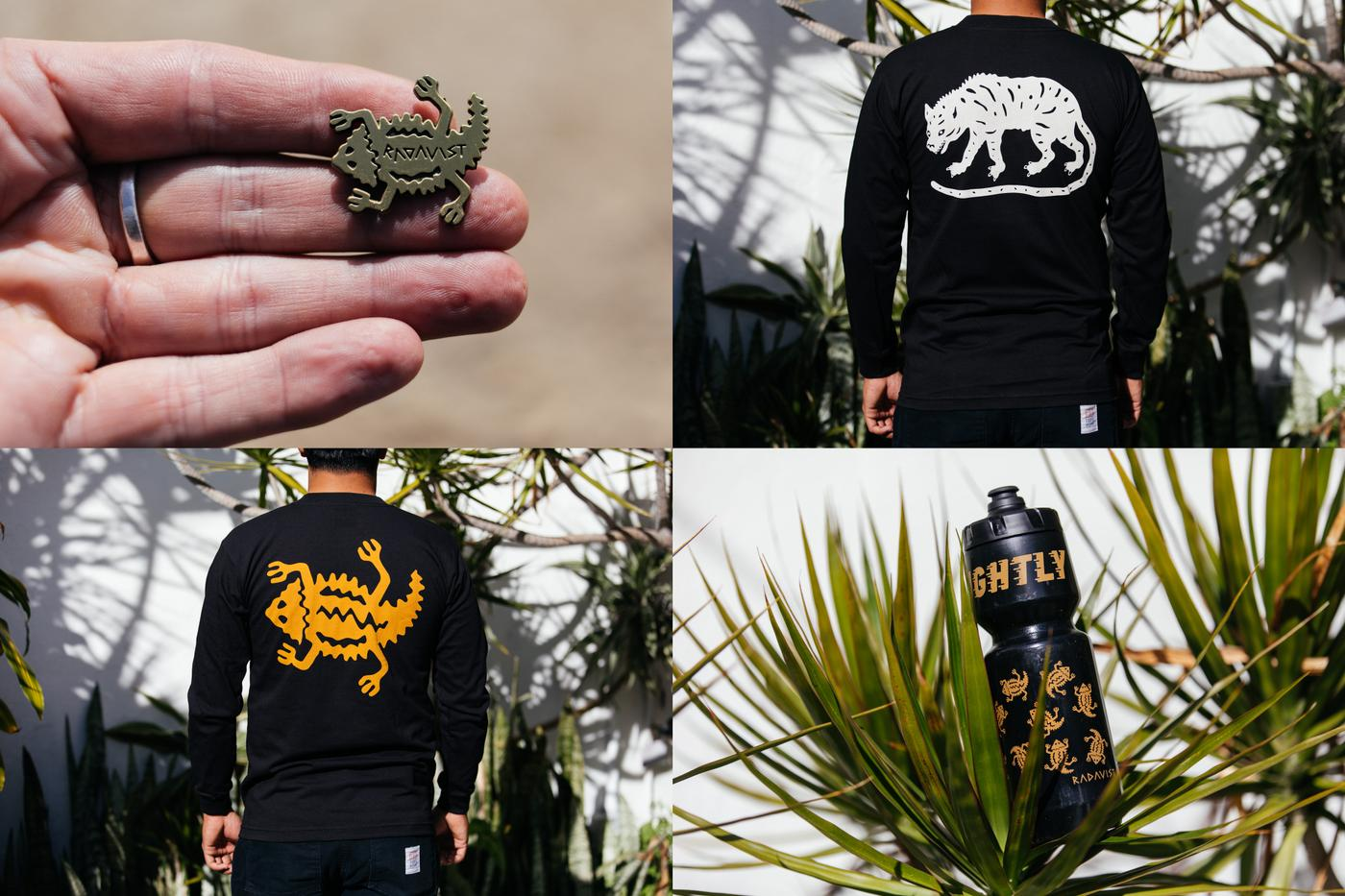 New Long Sleeve Tees, Pins, and Bottles in Stock Now