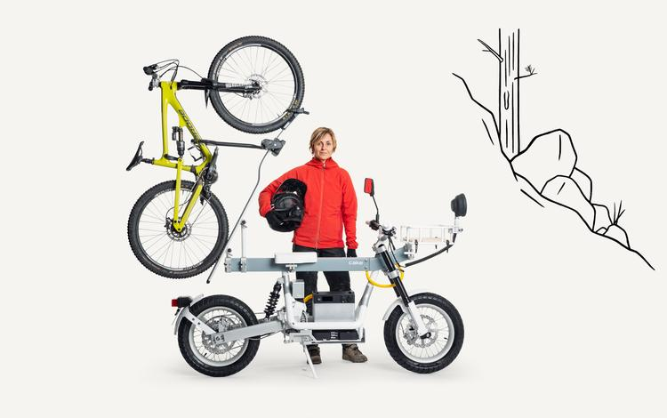 CAKE's Ösa e-Moto Gets You and Your MTB to the Trails with 0 Emissions