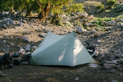 ...we finally found a campsite...