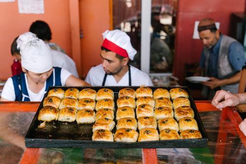 Savory Kyrgyz baked goods