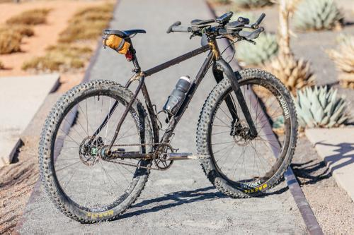 Bailey and His Custom Moné Singlespeed 29er Touring Bike