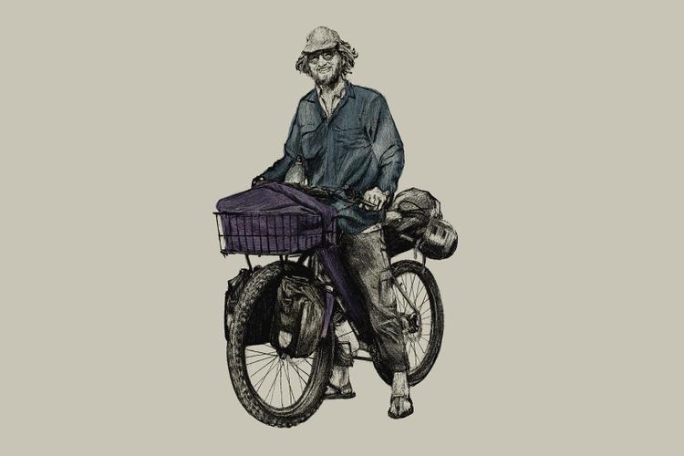 Dean Liebau's Illustrations of Cyclists