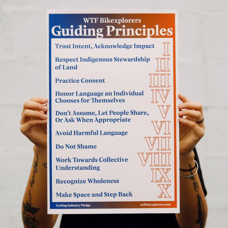 WTF Bikexplorers Guiding Principles Poster