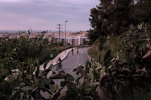 Climbing towards Torre Baró.