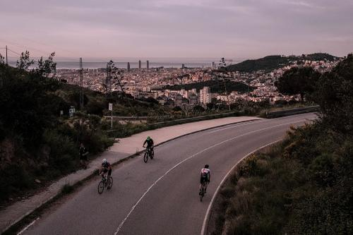 Top of the Cementiri Road with BCN and the Mediterranean in the distance.