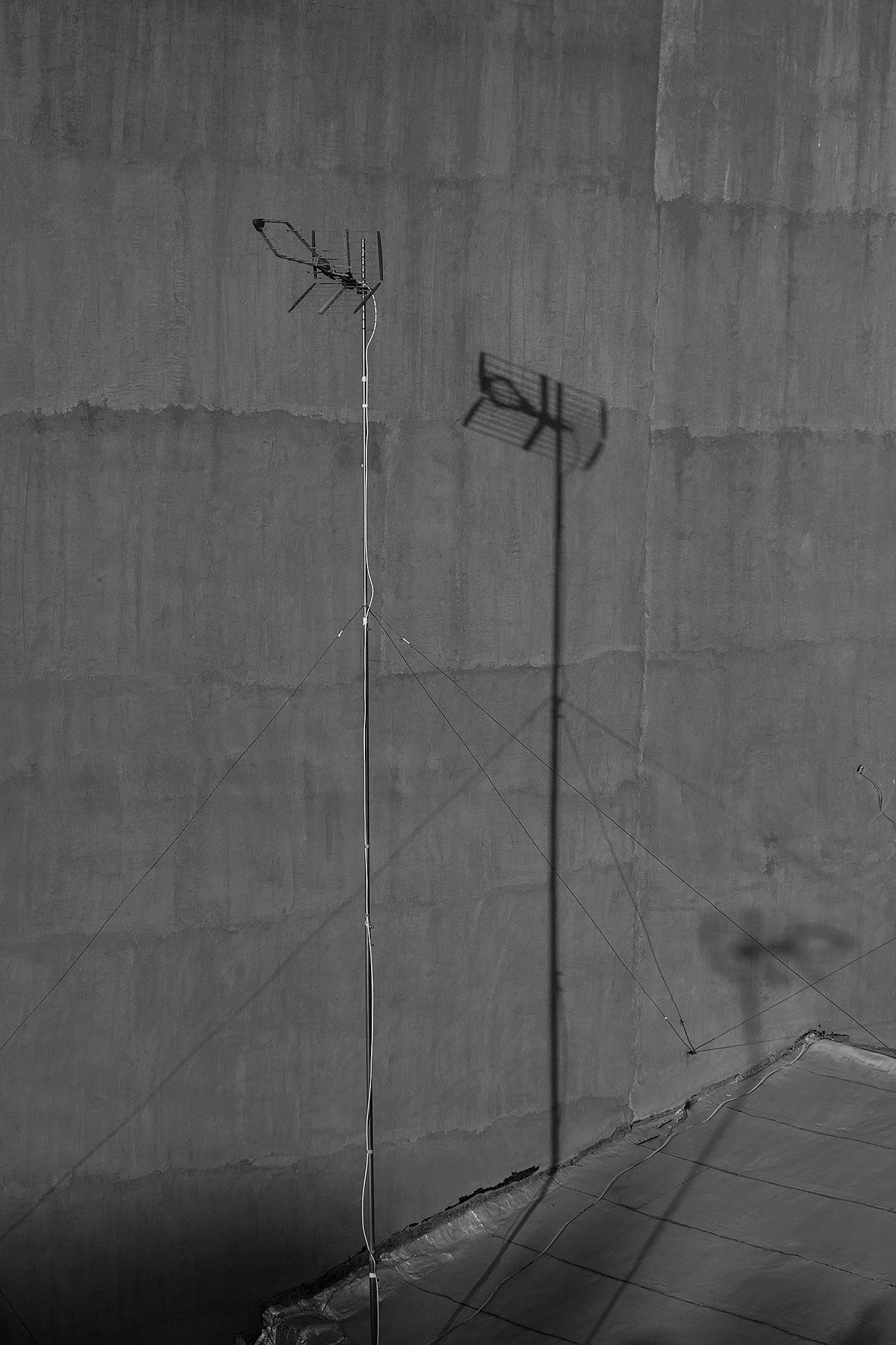 Lockdown Boredom: TV antenna shadows.