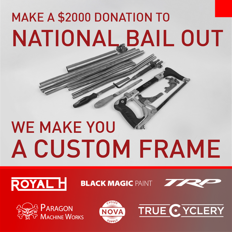 Win a Royal H Cycles and Raise Money for National Bail Out