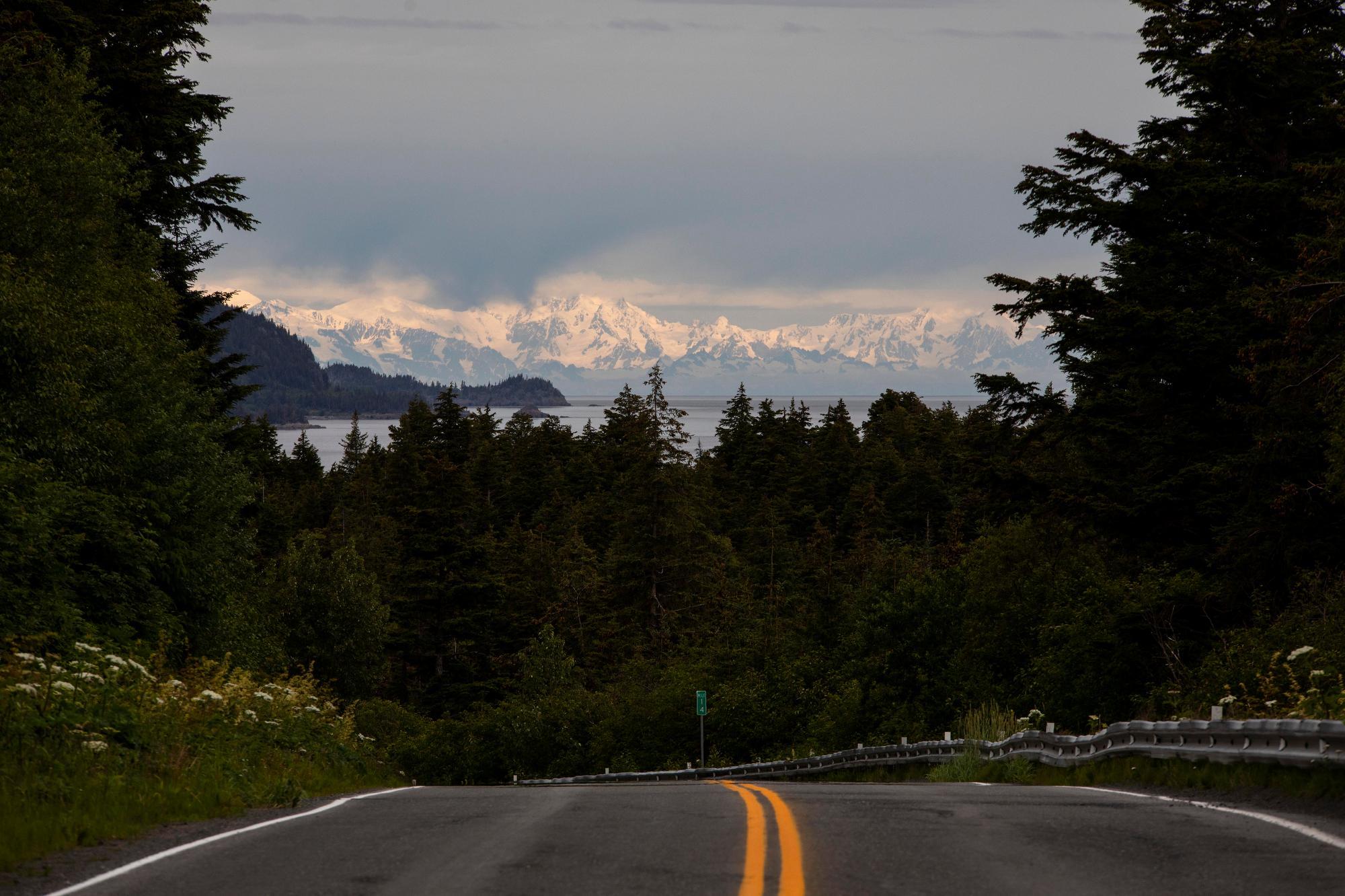 Looking towards Hope, Alaska. (Rugile Kaladyte)