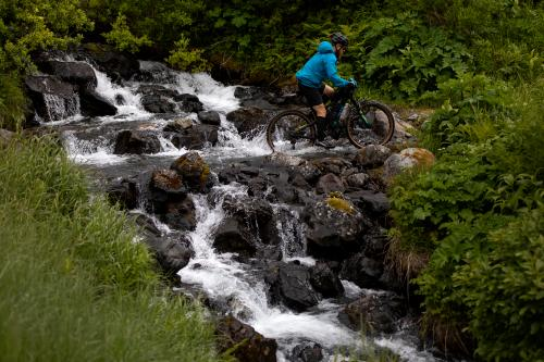 Adrian Barniak on DevilÕs Creek Trail. (Rugile Kaladyte)