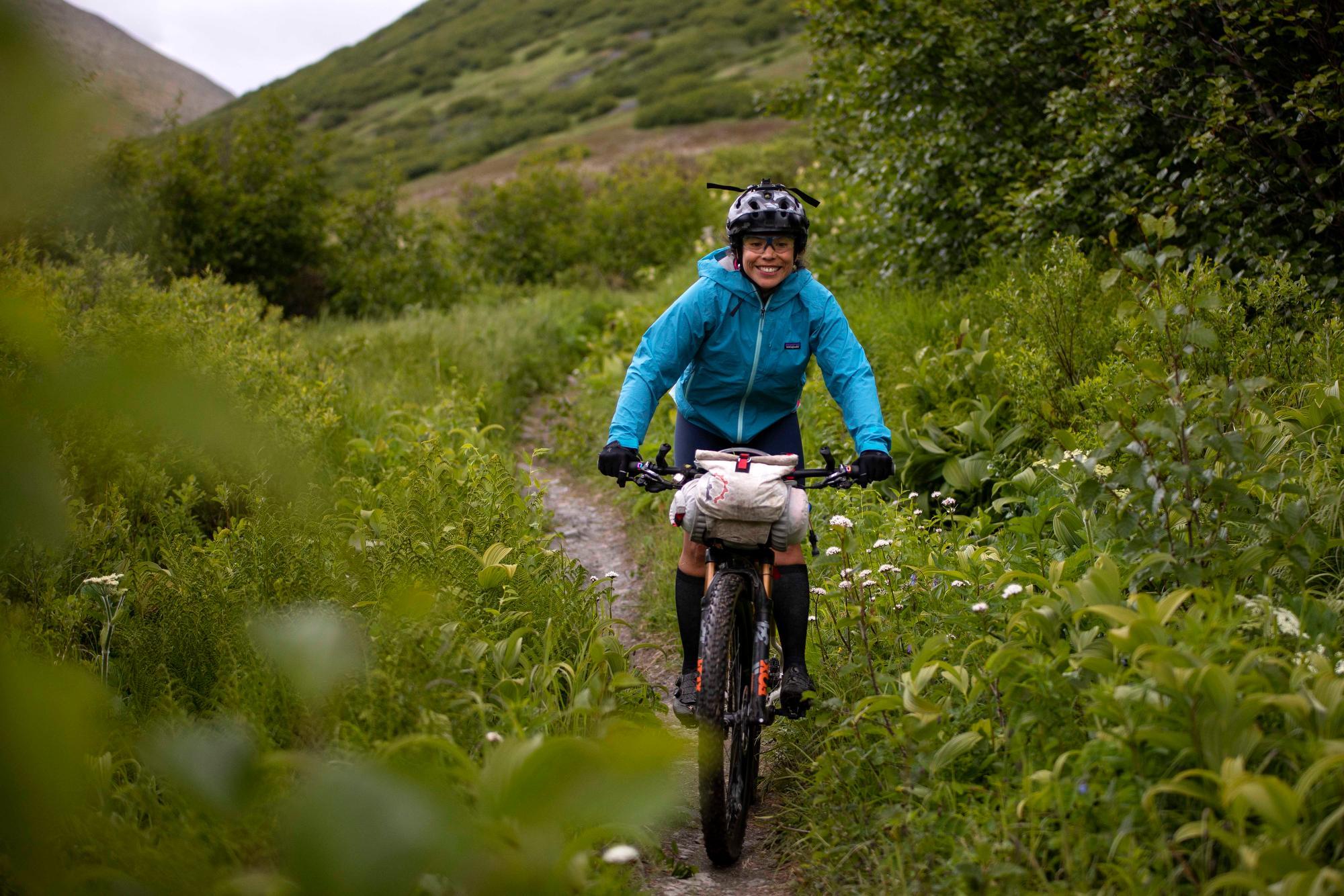 Christina Grande on DevilÕs Creek Trail. (Rugile Kaladyte)
