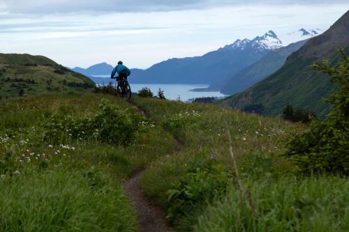 Adrian Barniak on the Lost Lake Trail. (Rugile Kaladyte)