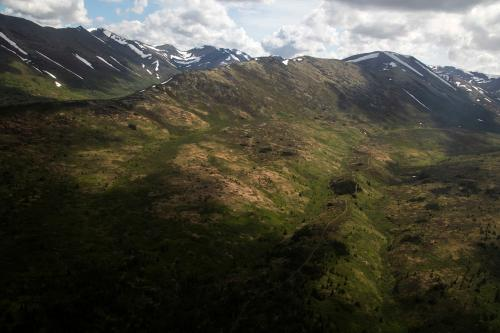 Resurrection Pass from Anson MoxnessÕs plane. (Rugile Kaladyte)