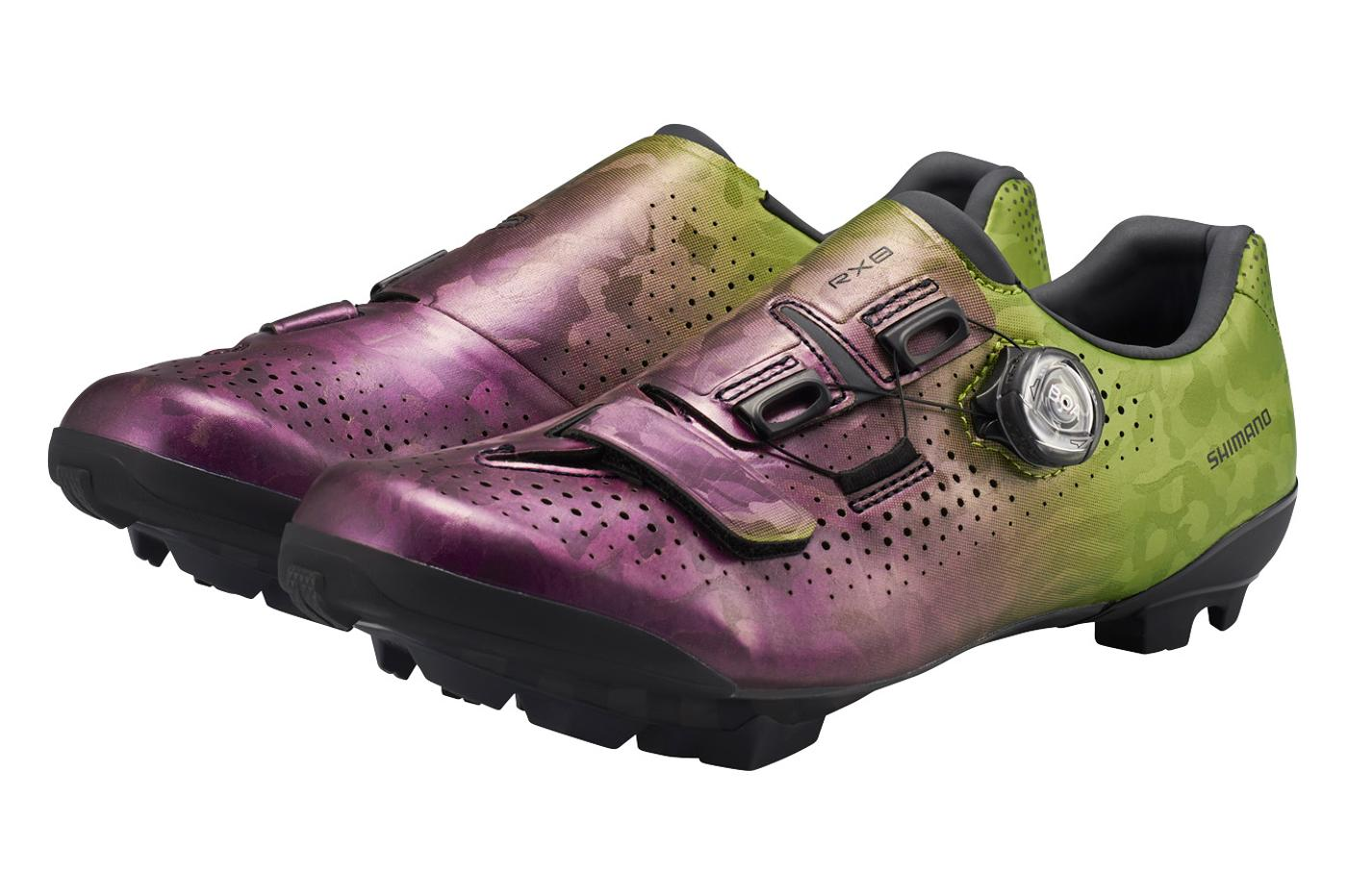 "Shimano SH-RX800 Gravel Shoes in a ""Opuntia Santa-Rita"" Colorway"