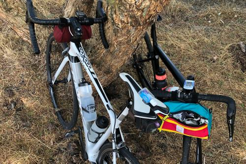 bikes and sanitizer