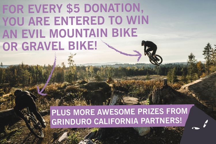 Donate to SORA and Win Either a MTB or a Gravel Bike from EVIL and Grinduro California!