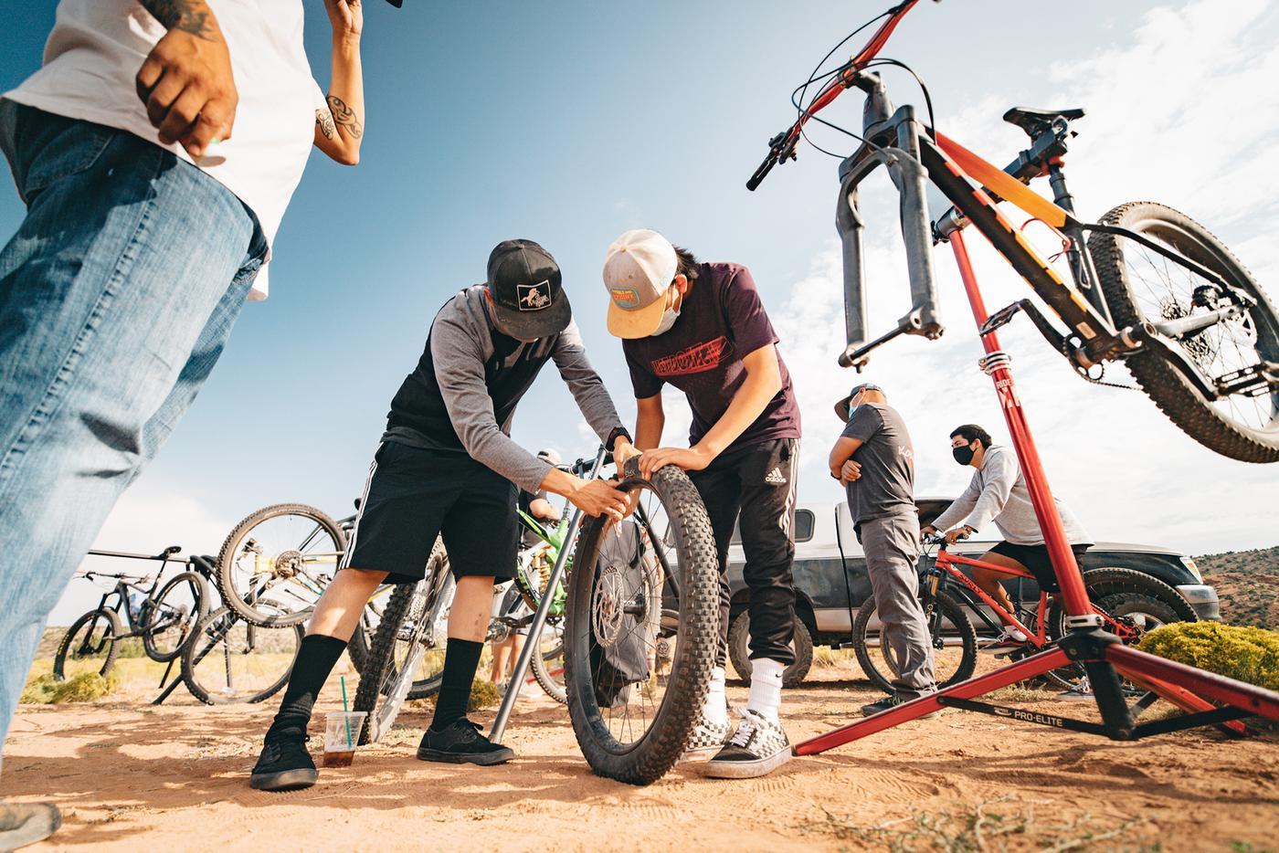 Dzil ta'ah Adventures Navajo Youth Bike-Packrafting Adventure Series: Nazlini, AZ