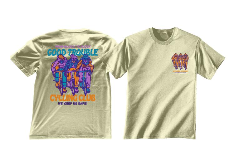 Good Trouble Cycling Club Tee