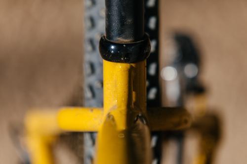 John's Mustard Titanium Sklar Hardtail