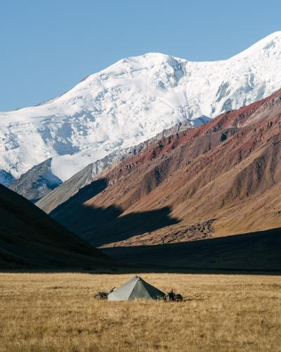 Camping at the foot of 23,000ft giants